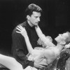 """Actors Rex Smith and Liliane Montevecchi in a scene from the Broadway production of the musical """"Grand Hotel""""."""