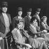 """Bellhops and telephone operators in a scene from the Broadway production of the musical """"Grand Hotel""""."""