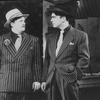 "(L-R) Nathan Lane and Peter Gallagher in a scene from the Broadway revival of the musical ""Guys And Dolls""."