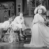 "(L-R) Actors Robert Joy, Mia Dillon and Rosemary Harris in a scene from the Broadway production of the play ""Hay Fever"""