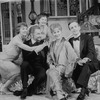 """(L-R) Actors Mia Dillon, Roy Dotrice, Barbara Bryne, Rosemary Harris and Robert Joy in a scene from the Broadway production of the play """"Hay Fever"""""""