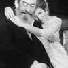 """Actors Amy Irving and Rex Harrison in a scene from the Circle In The Square production of the play """"Heartbreak House""""."""