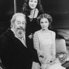"""(L-R) Actors Rex Harrison, Rosemary Harris and Amy Irving in a scene from the Circle In The Square production of the play """"Heartbreak House""""."""