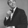 """Comic Jerry Lewis mugging in promo shot for the pre-Broadway tour of the musical revue """"Hellzapoppin""""."""