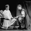 """(L-R) Martin Sheen and Edward Hermann in a scene from the NY Shakespeare Festival production of the play """"Julius Caesar"""""""