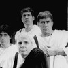 "(R-L) Martin Sheen, Edward Hermann, John McMartin and Al Pacino in a scene from the NY Shakespeare Festival production of the play ""Julius Caesar"""