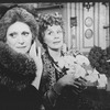 """(L-R) Ruby Holbrook and Elizabeth Owen in a scene from the Roundabout Theatre production of the play """"The Killing Of Sister George""""."""