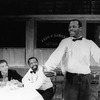 "(L-R) Lonny Price, Zakes Mokae and Danny Glover in a scene from the Broadway production of the play ""Master Harold And The Boys"""