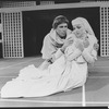 "Mary Elizabeth Mastrantonio and John Getz in a scene from the NY Shakespeare Festival Central Park production of the play ""Measure For Measure"""