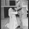 "Mary Elizabeth Mastrantonio and Richard Jordan in a scene from the NY Shakespeare Festival Central Park production of the play ""Measure For Measure"""