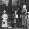 "(L-R) George N. Martin, Cleo Laine, John Herrera, George Rose and Jana Schneider in a scene from the Broadway production of the musical ""The Mystery Of Edwin Drood""."