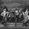 "Judy Kuhn (2L), Donna Murphy (3L) and George Rose (C) dancing in a scene from the Broadway production of the musical ""The Mystery Of Edwin Drood""."