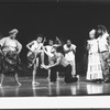 "La Chanze (2L) in a scene from the Broadway production of the musical ""Once On This Island""."