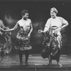 """La Chanze (L) in a scene from the Broadway production of the musical """"Once On This Island""""."""