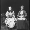 "(L-R) Kate Mulgrew and Geraldine Fitzgerald in a scene from the American Shakespeare Festival production of the play ""Our Town""."