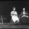 "(L-R) Eileen Heckart and Geraldine Fitzgerald in a scene from the American Shakespeare Festival production of the play ""Our Town""."