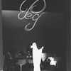 "Singer Peggy Lee in a scene from the Broadway production of her one-woman musical ""Peg"""