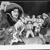 """George Rose (R) in a scene from the Broadway revival of the musical """"Peter Pan""""."""
