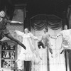 """Cathy Rigby (L) flying in a scene from the Broadway revival of the musical """"Peter Pan""""."""