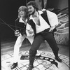"Jim Belushi (R) and Peter Noone (L) in a scene from the NY Shakespeare Festival production of the musical ""The Pirates Of Penzance""."