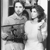 "Christine Baranski and Jeremy Irons in a scene from the Broadway production of the play ""The Real Thing"""