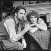 "Jeremy Irons and Glenn Close in a scene from the Broadway production of the play ""The Real Thing"""