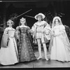 """Nicol Williamson as King Henry VIII (C) in a scene from the Broadway production of the musical """"Rex"""""""