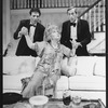 "(L-R) Ron Liebman, Joyce Van Patten and Andre Gregory in a scene from the Broadway production of the play ""Rumors""."