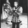 "(L-R) Joseph Bova, Robert LuPone, Lynn Redgrave and Tom Aldredge in a scene from the Circle In The Square production of the play ""Saint Joan""."