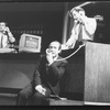 "Allan Corduner (C) in a scene from the Broadway production of the play ""Serious Money"""