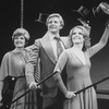 "(L-R) Millicent Martin, David Kernan and Julia McKenzie in a scene from the Broadway production of the musical revue ""Side By Side By Sondheim"""
