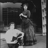 "Bernadette Peters and Mandy Patinkin in a scene from the Broadway production of the musical ""Sunday In The Park With George""."