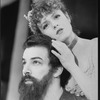 """Bernadette Peters and Mandy Patinkin in a scene from the Broadway production of the musical """"Sunday In The Park With George""""."""