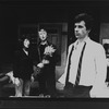 "(L-R) Elaine May, Mike Nichols and James Naughton in a scene from the Long Wharf production of the play ""Who's Afraid Of Virginia Woolf?"""