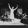 "(L-R) James Naughton, Swoosie Kurtz, Mike Nichols and Elaine May in a scene from the Long Wharf production of the play ""Who's Afraid Of Virginia Woolf?"""
