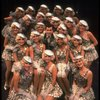 """Lee Roy Reams (C) performing """"We're In The Money"""" in a scene from the Broadway production of the musical """"42nd Street."""" (New York)"""