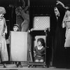 "Actress Dorothy Loudon (L) as Miss Hannigan and Danielle Findley (C) as Little Orphan Annie in a scene from the stage musical ""Annie 2.""."