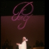"Singer Peggy Lee in a scene fr. the one-woman Broadway musical ""Peg."" (New York)"
