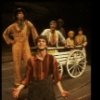 "Actor Daniel Jenkins (Front) w. cast in a scene fr. the original cast of the Broadway musical ""Big River."" (New York)"