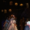 """Actor Harry Groener (C) w. dancers in a scene fr. the Broadway revival of the musical """"Oklahoma!."""" (New York)"""