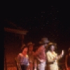 """Actor Bruce Adler (4L) w. cast in a scene fr. the Broadway revival of the musical """"Oklahoma!."""" (New York)"""