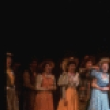 """Actors (5L-C) Harry Groener, Christine Ebersole, Laurence Guittard & Christine Andreas w. cast in a scene fr. the Broadway revival of the musical """"Oklahoma!."""" (New York)"""