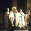 "Actors (fr., L-R) John McMartin, Damien Leake & Edward Herrmann w. cast members in a scene fr. the New York Shakespeare Festival production of the play ""Julius Caesar."" (New York)"