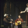 """Performer Tom Key (C) with The Cotton Pickers in a scene from the Off-Broadway musical """"Cotton Patch Gospel."""" (New York)"""