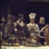 "Actors (C) Nicol Williamson & Michael John w. cast members  in a scene fr. the Broadway musical ""Rex."" (New York)"