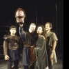 """Actors (L-R) David Purdham, Donald Moffat, Pamela Gien and Jon DeVries in a scene from the New York Shakespeare Festival production of the play """"Titus Andronicus"""" at the Delacorte Theatre in Central Park. (New York)"""