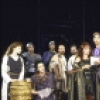 """Actors (C, L-R) Kate Mulgrew, Don R. McManus, Keith David, Donald Moffat (kneeling) and David Purdham with cast members in a scene from the New York Shakespeare Festival production of the play """"Titus Andronicus"""" at the Delacorte Theatre in Central Park. (New York)"""