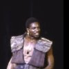 """Actor Keith David in a scene from the New York Shakespeare Festival production of the play """"Titus Andronicus"""" at the Delacorte Theatre in Central Park. (New York)"""
