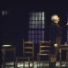 "Actors (L-R) Milo O'Shea and Jason Robards in a scene from the Broadway production of the play ""A Touch of the Poet"" (New York)"