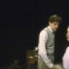 "Actors (L-R) Edward Herrmann, Kate Nelligan and Ellen Parker in a scene from the New York Shakespeare Festival's production of the play ""Plenty"" (New York)"